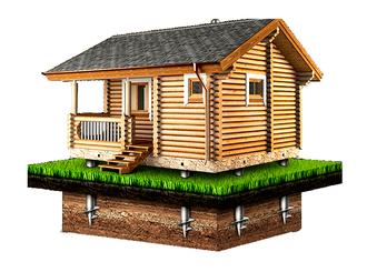 Фундамент для бани 4х3м (6 свай Ø89)