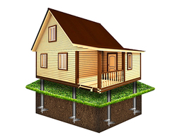 Фундамент для дома 6х8м (20 свай Ø89)