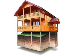 Фундамент для дома 6х10м (24 сваи Ø89)